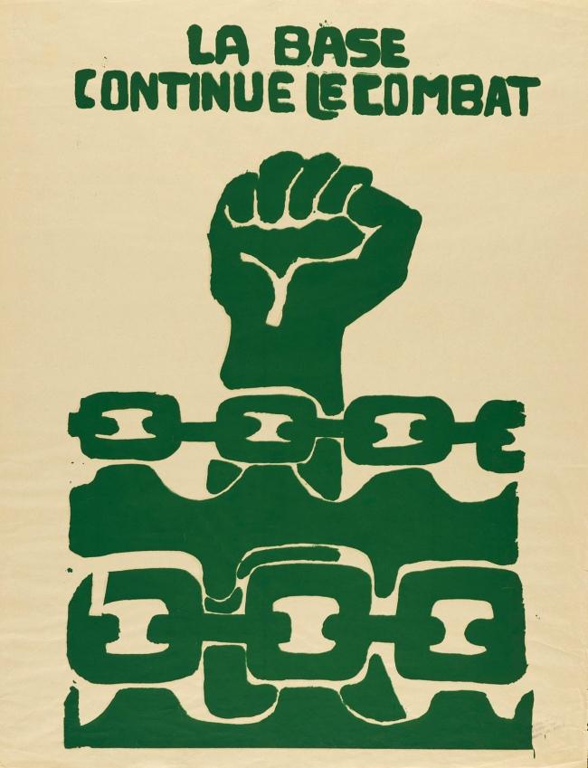 Atelier Populaire. 'La base continue le combat' 1968
