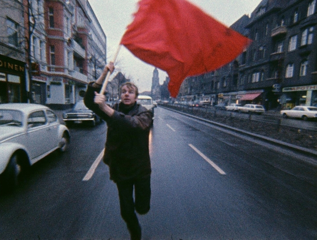 Gerd Conradt (b. 1941) 'Farbtest - Rote Fahne' (Colour test - Red Flag) (videostill) 1968