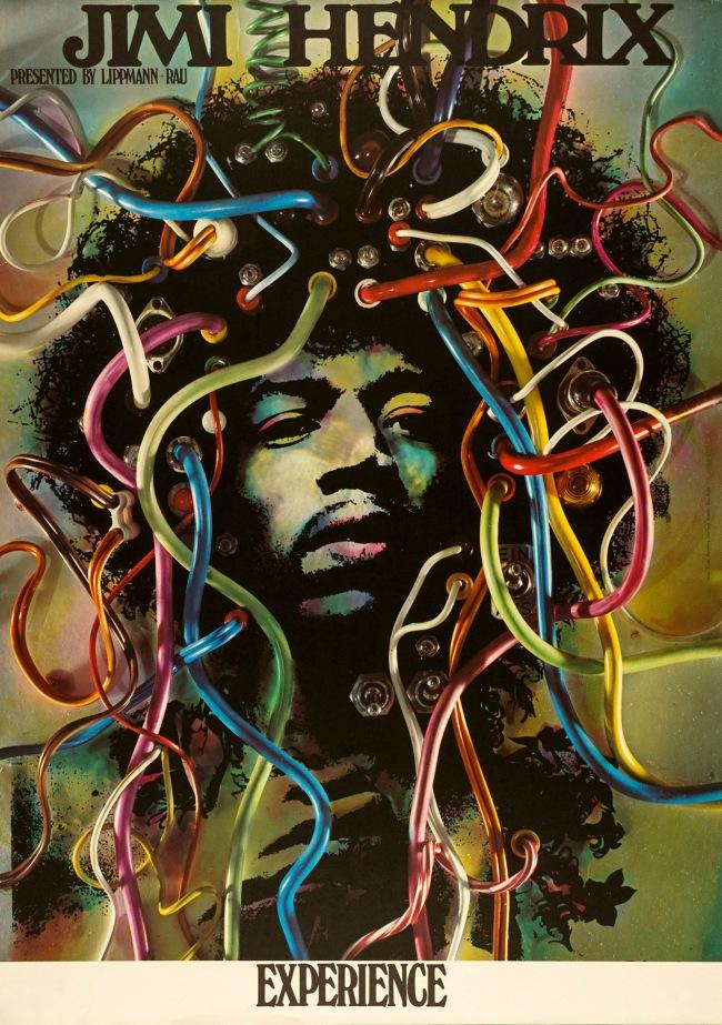 Günther Kieser (German, b. 1930) 'Jimi Hendrix Experience' 1969