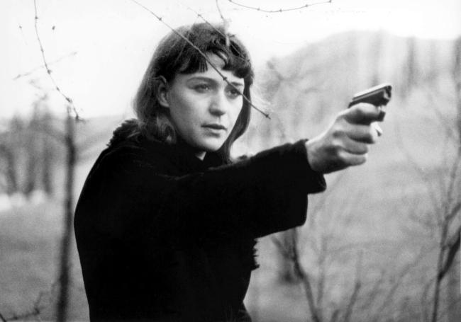 Alexander Kluge (German, b. 1932) 'Abschied von gestern' (Yesterday Girl) (videostill) 1966