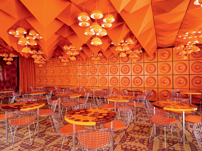 Verner Panton (Danish, 1926-1998) 'Spiegel-Canteen, Orange Dining Room' 1969