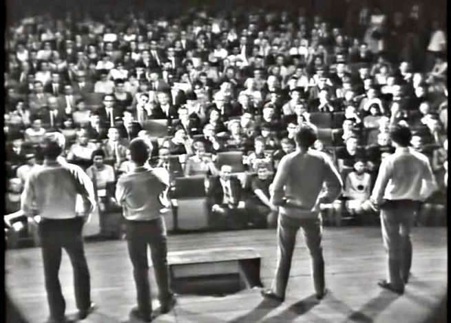 Filmstill from 'Publikumsbeschimpfung', premiere in Frankfurt am Main, 1966