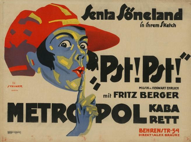 """Josef Steiner. 'Senta Söneland in her sketch """"Pst! Pst!""""'"""