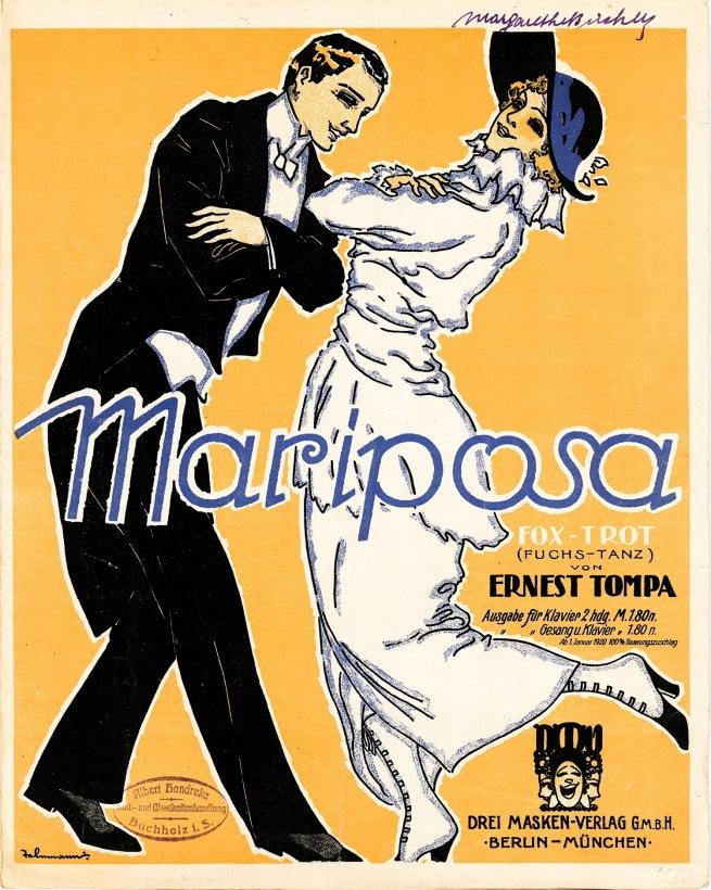 Paul Telemann. 'Mariposa. Fox-trot (Fuchs Dance)' 1919