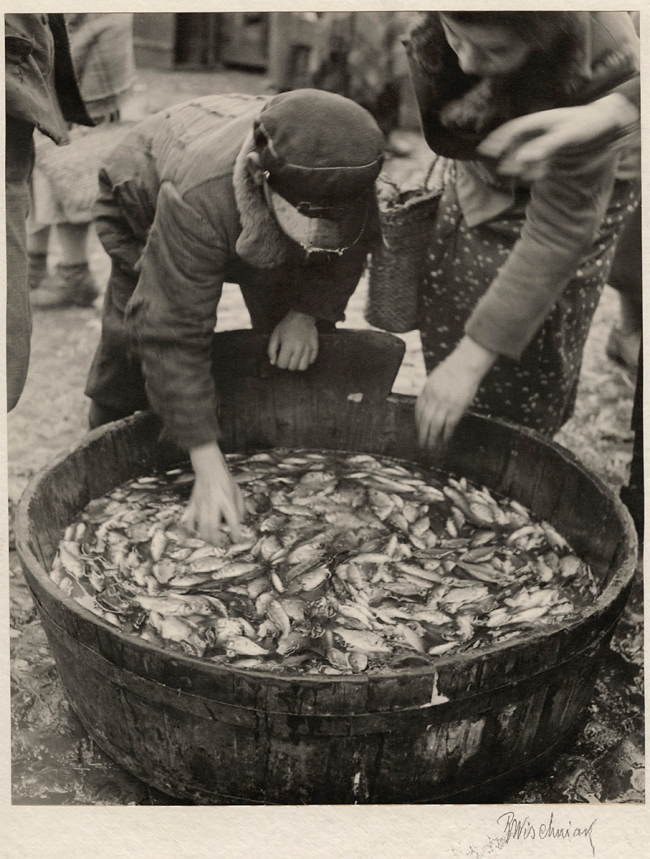 Roman Vishniac (1897-1990) 'Fish is the Favored Food for the Kosher Table' c. 1935-38