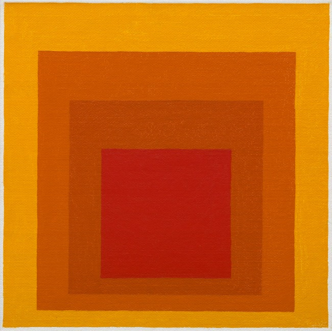Josef Albers (American, born Germany 1888-1976) 'Study for Homage to the Square, Closing' 1964