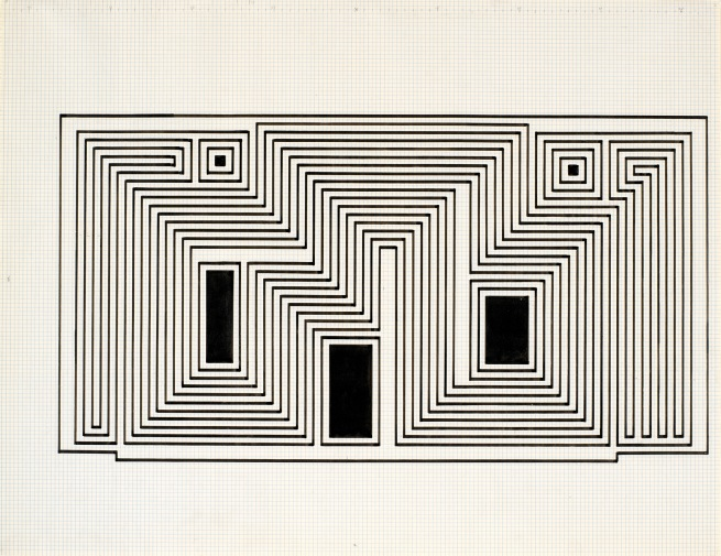 Josef Albers (American, born Germany 1888-1976) 'Study for Sanctuary' 1941-1942