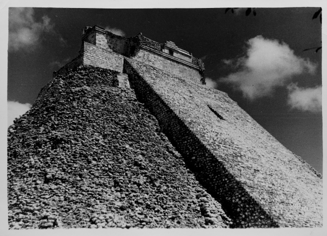 Josef Albers (American, born Germany 1888-1976) 'The Pyramid of the Magician, Uxmal' 1950