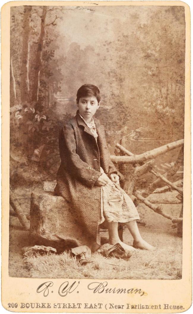 Arthur William Burman. 'Clara Crosbie' c. 1885