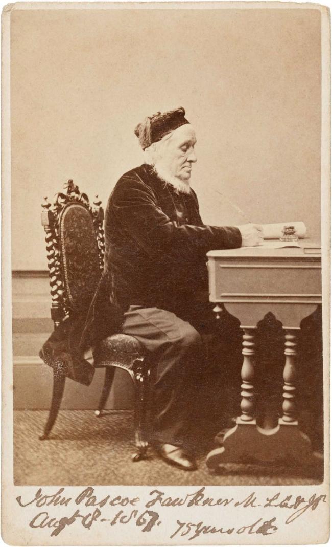 Batchelder and O'Neill. 'John Pascoe Fawkner (age 75 in 1867)' c. 1867
