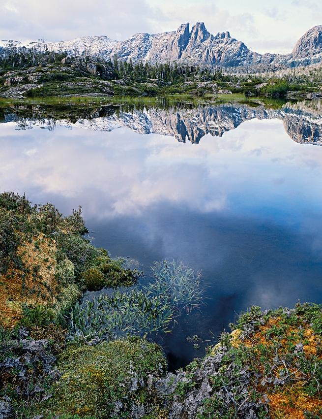 Peter Dombrovskis (Australian, born Germany 1945-96) 'Mount Geryon from the Labyrinth, Du Cane Range, Tasmania' 1986