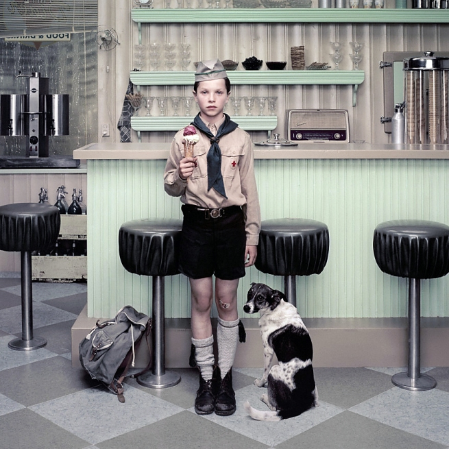 Erwin Olaf (Netherlands, b. 1959) 'Rain, The Ice Cream Parlour' 2004