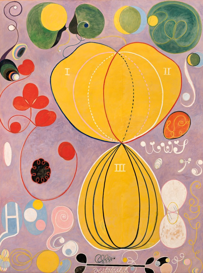 Hilma af Klint (Swedish, 1862-1944) 'The Ten Largest, No. 7., Adulthood, Group IV' [The age of men] 1907