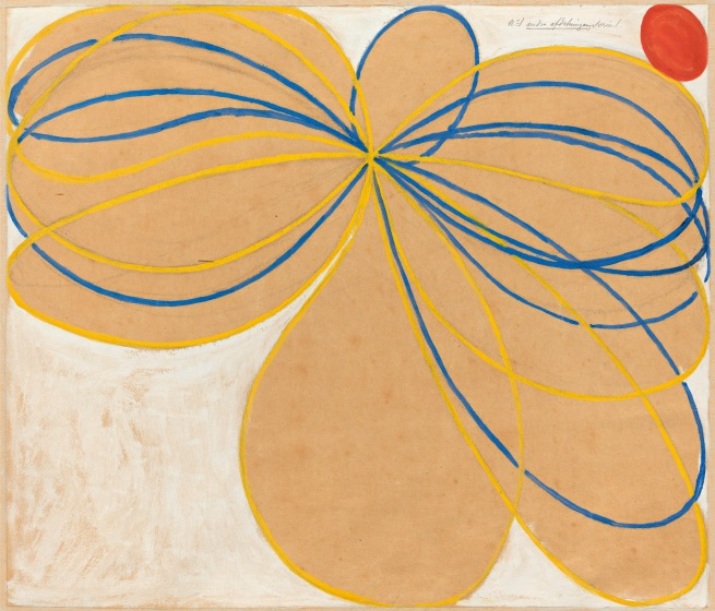 Hilma af Klint (Swedish, 1862-1944) 'Group V, The Seven-Pointed Star, No. 1n' (Grupp V, Sjustjärnan, nr 1) 1908