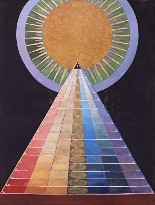 Hilma af Klint (Swedish, 1862-1944) 'Group X, No. 1, Altarpiece' (Grupp X, nr 1, Altarbild) 1915