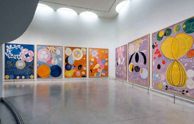 Installation view of the exhibition 'Hilma af Klint: Paintings for the Future', Solomon R. Guggenheim Museum, New York, October 12, 2018 - April 23, 2019