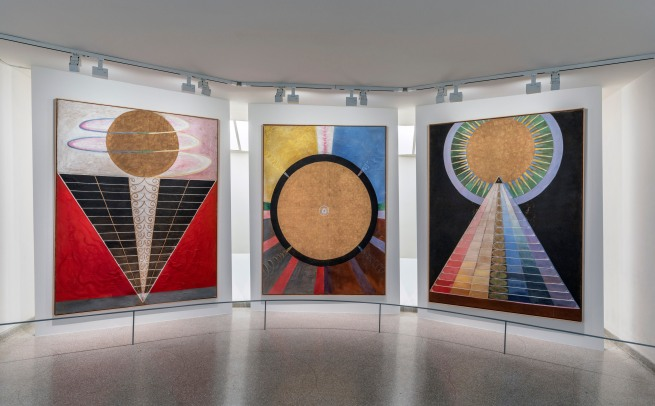 Installation viInstallation view of the exhibition 'Hilma af Klint: Paintings for the Future', Solomon R. Guggenheim Museum, New York, October 12, 2018 - April 23, 2019