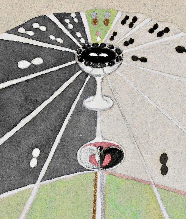 Hilma af Klint (Swedish, 1862-1944) 'Tree of Knowledge, No. 5' (Kunskapens träd, nr 5) 1915 (detail)