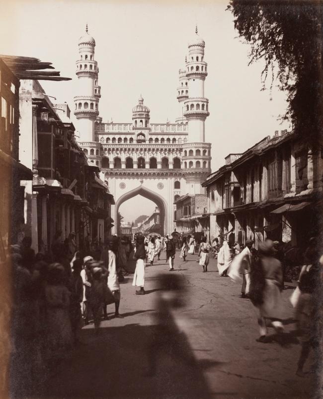 Lala Deen Dayal (Indian, 1844-1905) 'The Char Minar, Hyderabad' 1880s