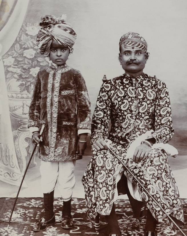 R.K. Brothers. 'Ruling group, probably from Bikaner' c. 1900 (detail)