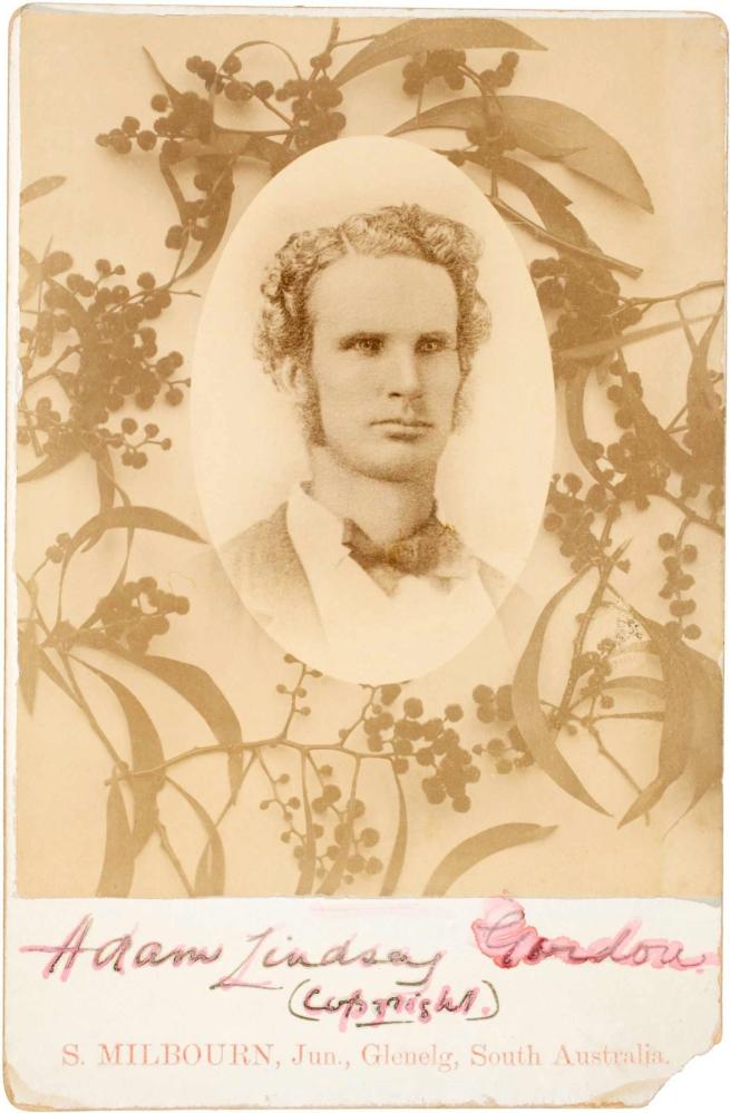 S. Milbourn Jnr(1863-1897) 'Adam Lindsay Gordon' 1890-1894