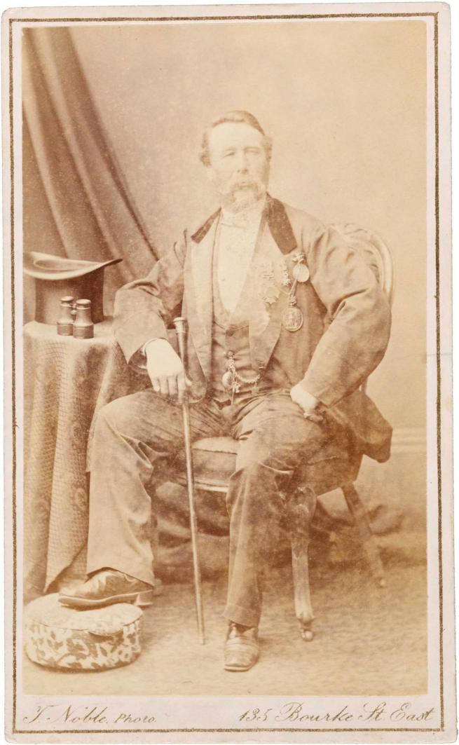 Timothy Noble. 'Charles Blondin (age 50 in 1874)' 1874
