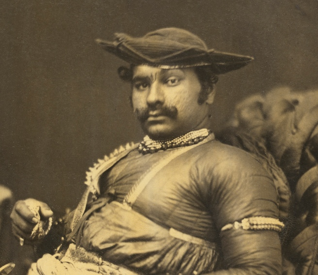 Unknown photographer. 'Appah Sahib Augriah, Mahratta, Sirdar and relative of Scindia' c. 1859 (detail)