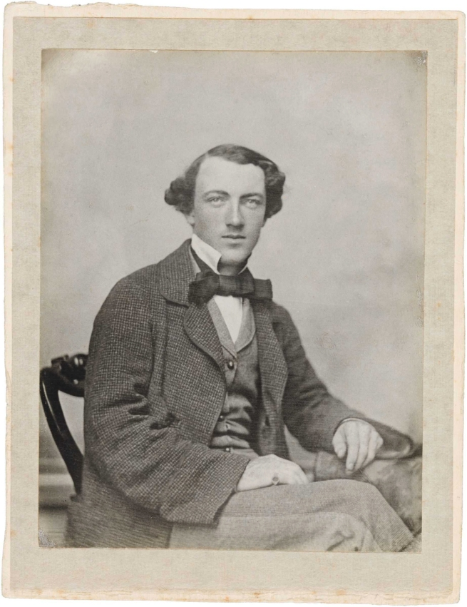Unknown artist. 'Thomas Wentworth Wills (age 21 in 1857)' c.1857 or c.1864 (printed c.1905-1910)