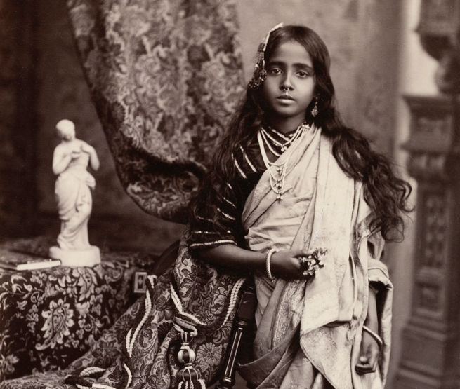 Unknown photographer. 'Portrait of a young Indian woman' 1870s (detail)