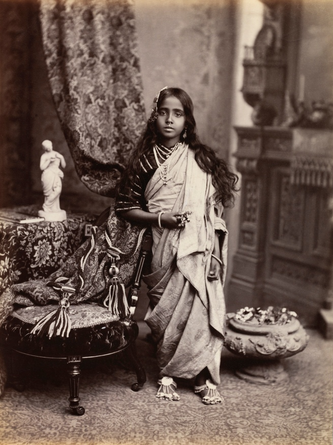 Unknown photographer. 'Portrait of a young Indian woman' 1870s