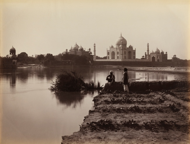 Unknown photographer. 'The Taj Mahal, Agra, from the north' 1870s