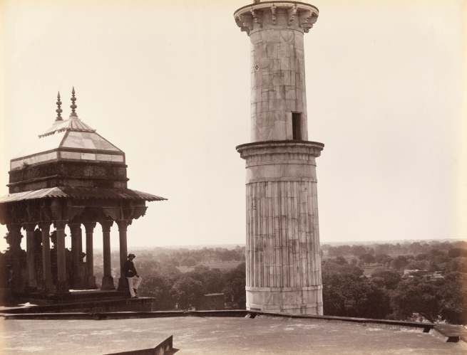 Unknown photographer. 'View from the entrance gateway of Akbar's Tomb, Sikandra' 1870s