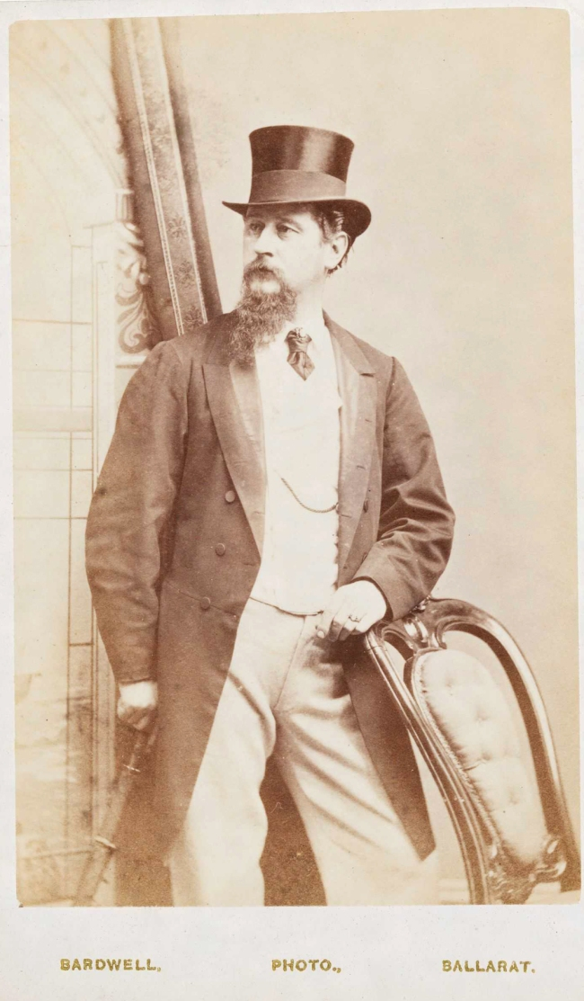 William H. Bardwell. 'Self portrait (age 34 in 1870)' 1870