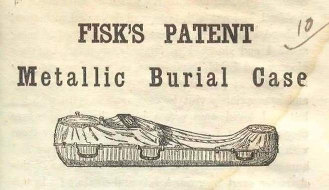 Fisk and Raymond Coffin Brochure, 1850