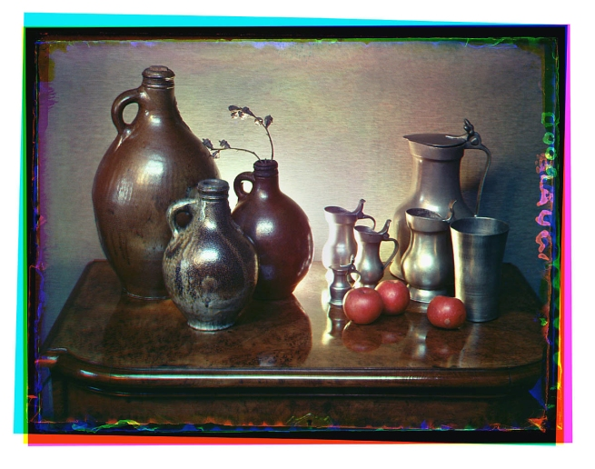Bernard F. Eilers (1878-1951) 'Stilleven met tinnen en steengoed kannen' (Still life with pewter and stoneware jugs) 1934-04/1939-10