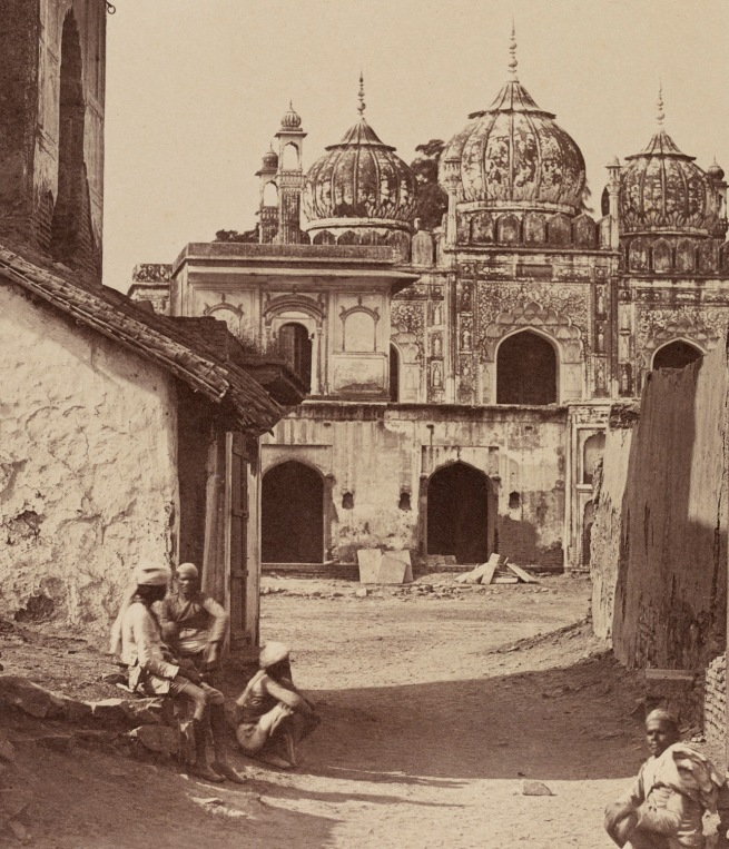 Felice Beato (Italian-British, 1832-1909) 'A mosque in the Red Fort, Dehli' 1858 (detail)