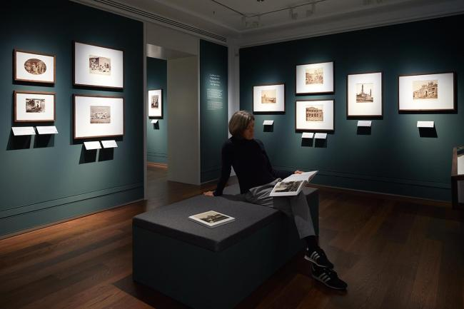 Installation view of the exhibition 'Under Indian Skies - 19th-Century Photographs from a Private Collection' at The David Collection, Copenhagen, Denmark