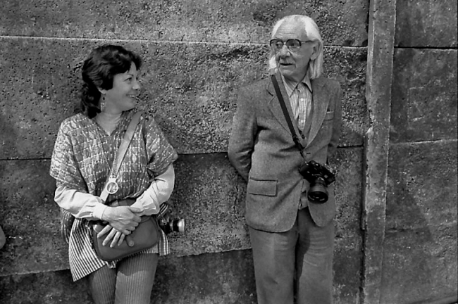 Pedro Meyer. 'Manuel Álvarez Bravo and Graciela Iturbide, Coyoacán (Mexico)' 1983