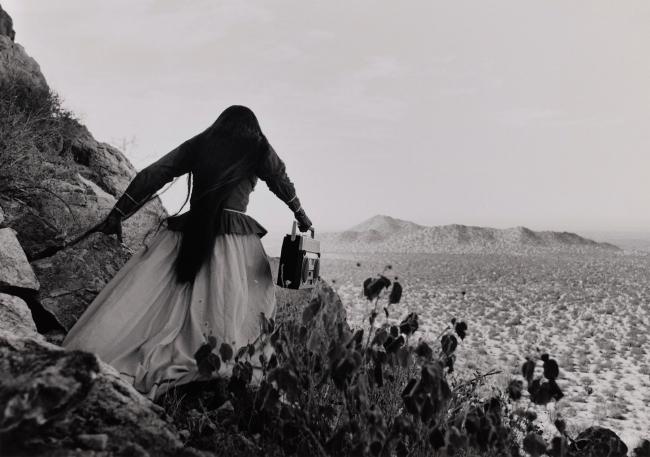 Graciela Iturbide (Mexican, b. 1942) 'Mujer ángel, Desierto de Sonora, México' (Angel Woman, Sonora Desert, Mexico) 1979