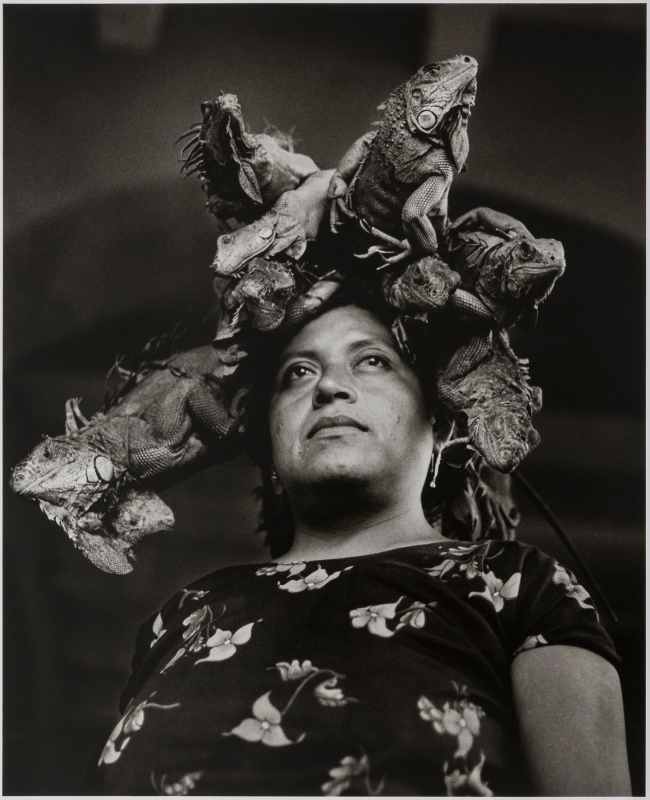 Graciela Iturbide (Mexican, b. 1942) 'Nuestra Señora de las Iguanas, Juchitán, México' (Our Lady of the Iguanas, Juchitán, Mexico) 1979
