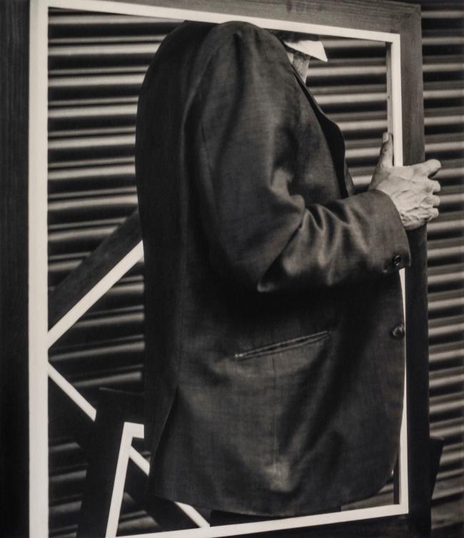 Graciela Iturbide (Mexican, b. 1942) 'Señor Enmarcado, Ciudad de México' (Framed Man, Mexico City) 1970