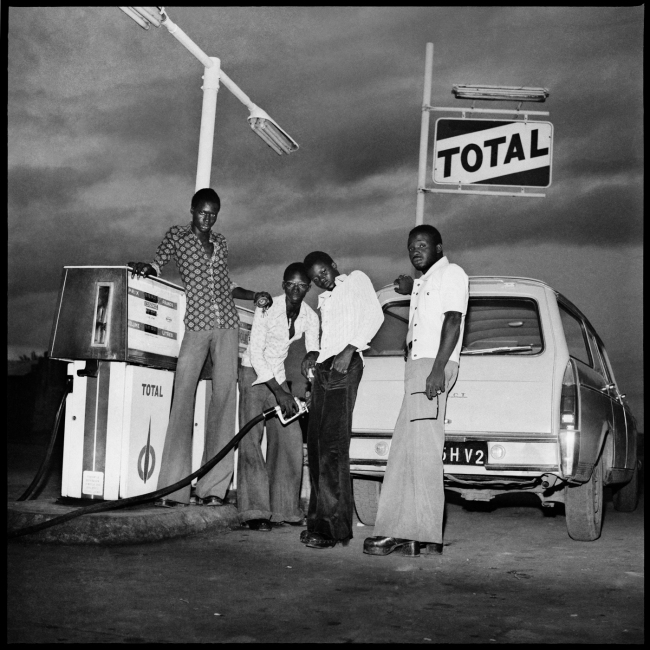 Sanlé Sory (West African, b. 1943) 'Le plein chez Total, route de Banfora' 1974