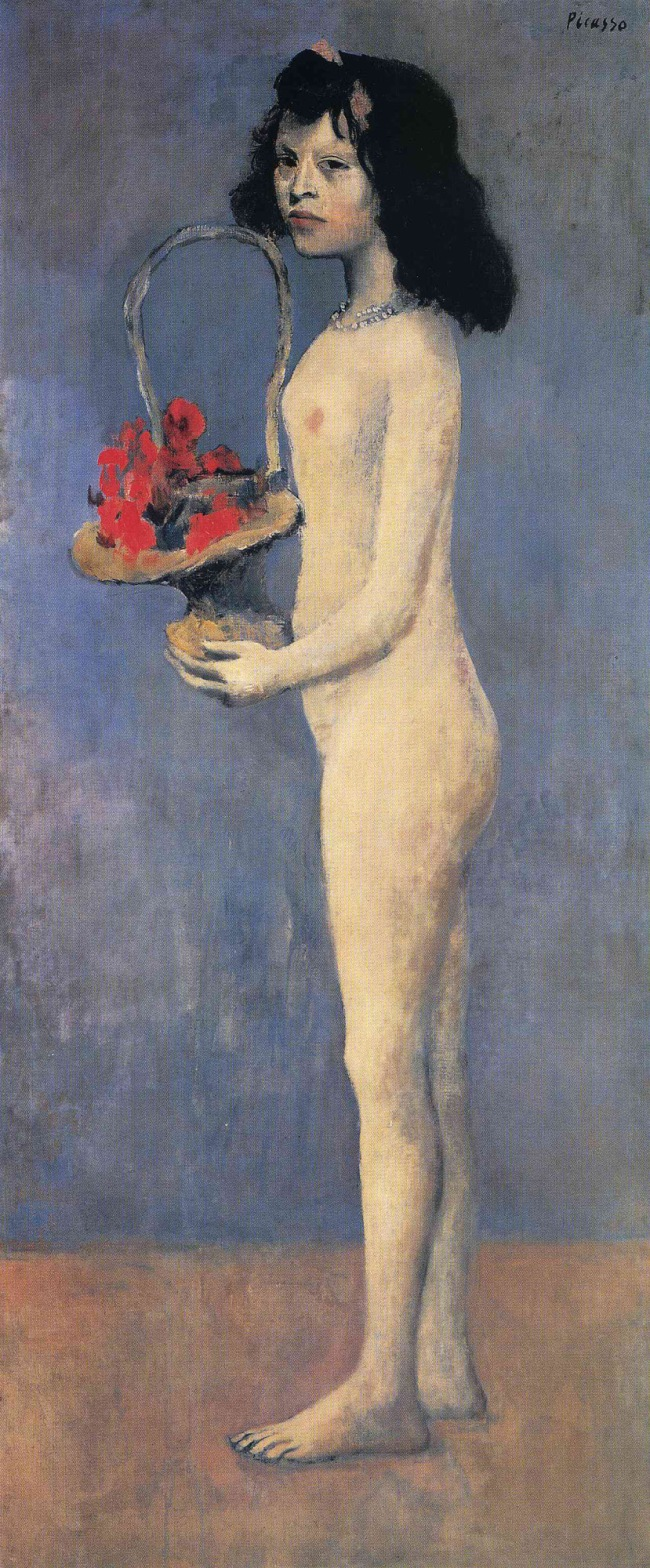 Pablo Picasso (Spanish, 1881-1973) 'Fillette nue au panier de fleurs' (Le panier fleuri) (Girl with a Basket of Flowers) 1905