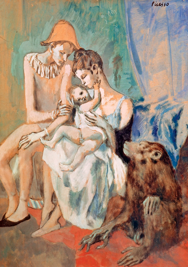 Pablo Picasso (Spanish, 1881-1973) 'Famille de saltimbanques avec un singe' (Family of acrobats with a monkey) 1905