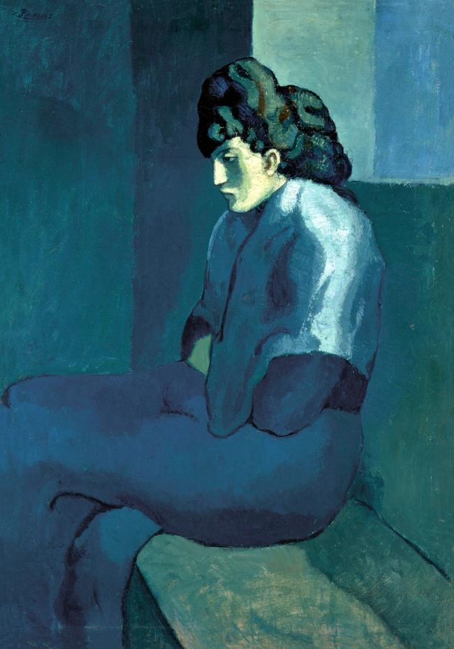 Pablo Picasso (Spanish, 1881-1973) 'Femme assise au fichu' 1901