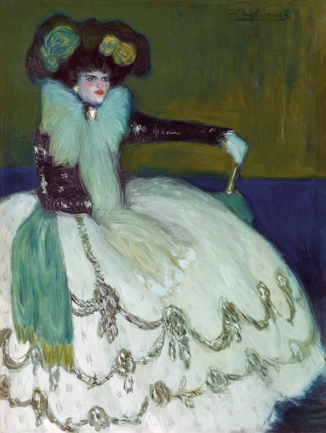 Pablo Picasso (Spanish, 1881-1973) 'Femme en bleu' 1901