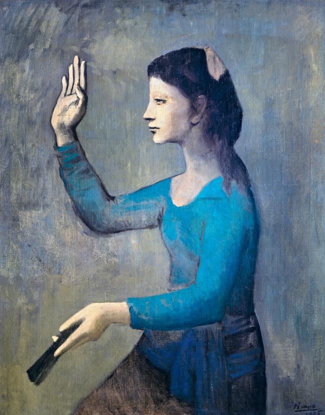 Pablo Picasso (Spanish, 1881-1973) 'Femme à l'éventail' (Woman with a fan) 1905