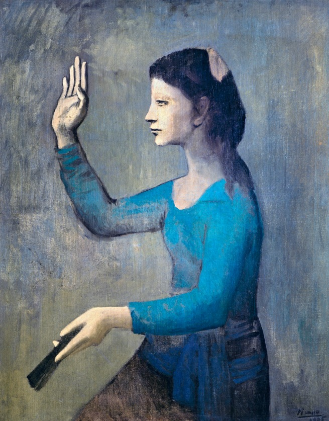 Pablo Picasso (Spanish, 1881-1973) 'Femme à l'éventail' (Woman with a fan) 1905