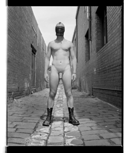 Marcus Bunyan. 'Paul (Boots and mask)' 1995-96 from the series 'Mask'