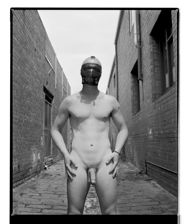 Marcus Bunyan. 'Paul (Hands on hips)' 1994 from the series 'Mask'